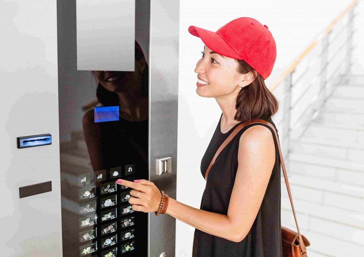 machine cafe moderne entreprise