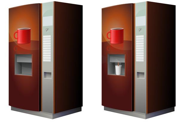 distribution automatisée de boisson chaudes