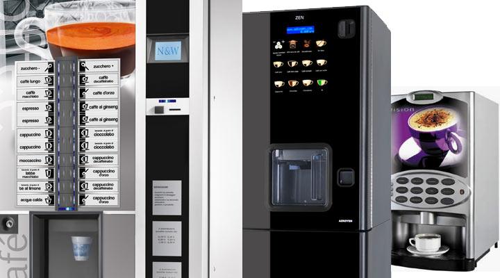 distributeur de boissons chaudes et machine à café