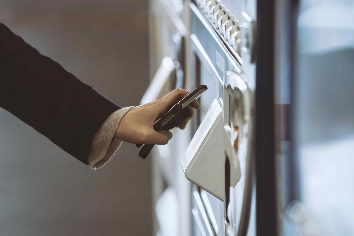 paiement sans contact distributeur automatique